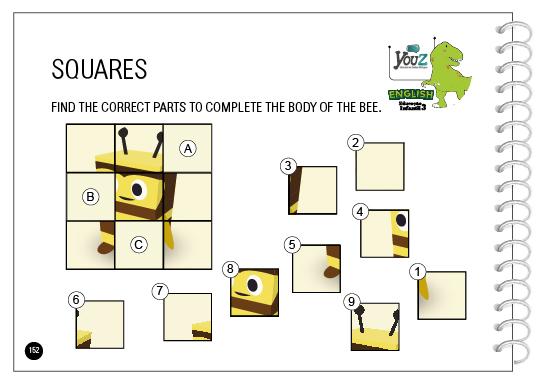 Atividade do livro de inglês para crianças de 5 anos da Educação Infantil. Tema: Shapes.