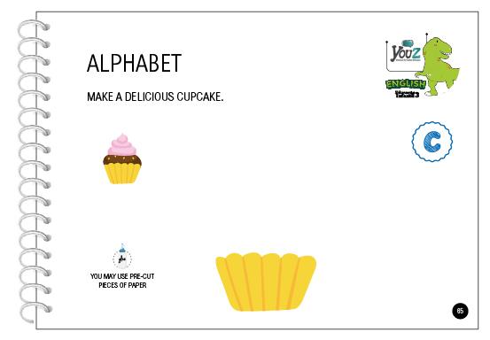 Atividade do livro de inglês para crianças de 5 anos da Educação Infantil. Tema: Alphabet.