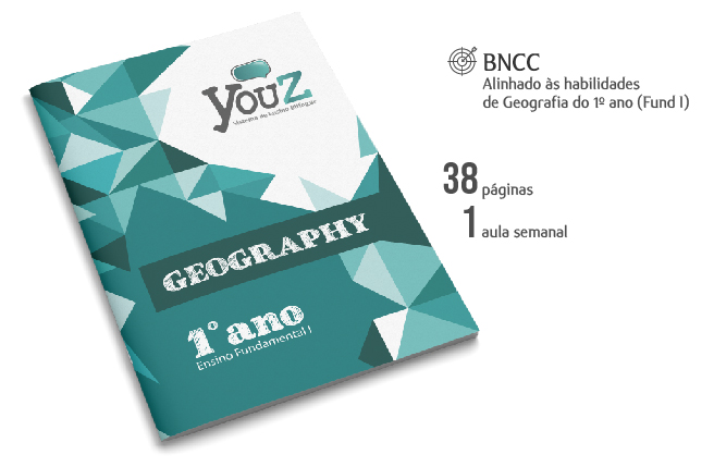 Livro de Geography para alunos do 1º ano (Fund I). Educação Bilíngue.