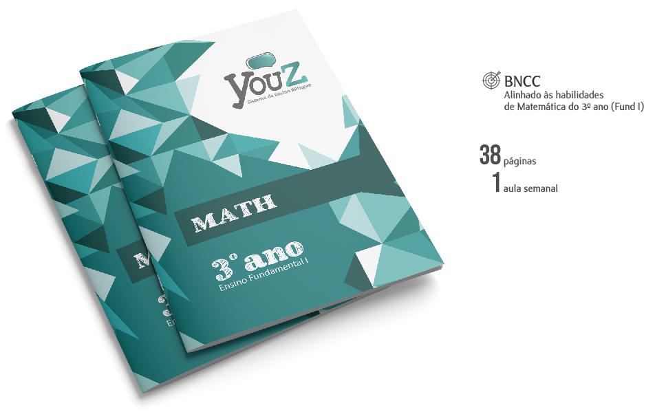 Livro de Math para alunos do 3º ano (Fund I). Educação Bilíngue.