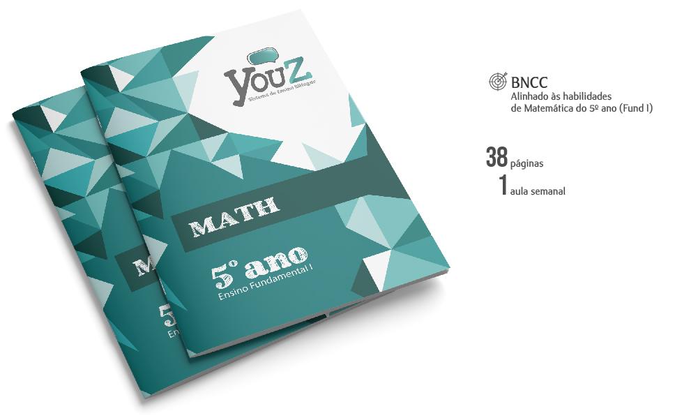 Livro de Math para alunos do 5º ano (Fund I). Educação Bilíngue.
