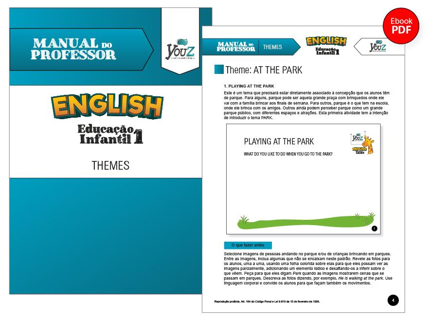 Manual do Professor do Livro de Inglês para crianças de 3 anos