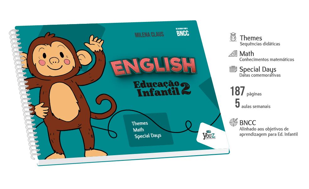 Livro de Inglês para crianças de 4 anos. Educação Infantil Bilíngue.