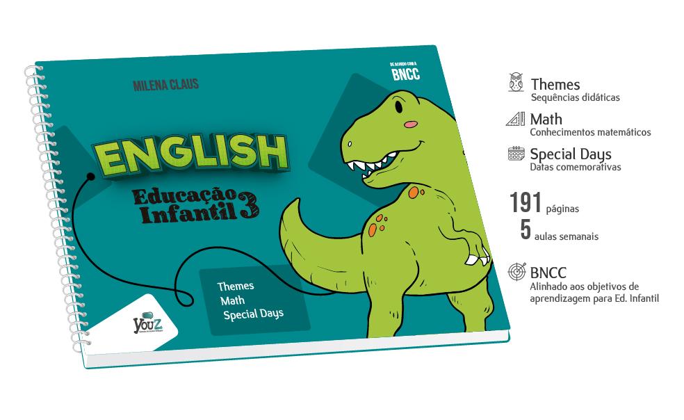 Livro de Inglês para crianças de 5 anos. Educação Infantil Bilíngue.