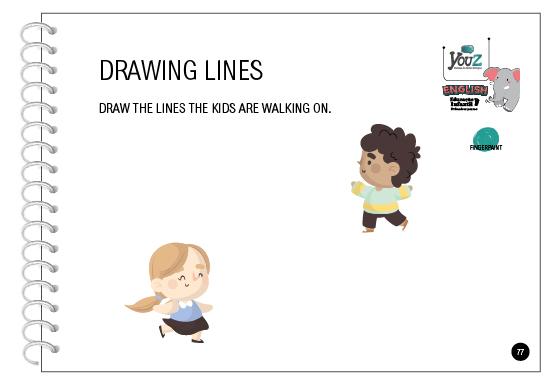 Atividade do livro de inglês para crianças de 2 anos. Educação Infantil Bilíngue.