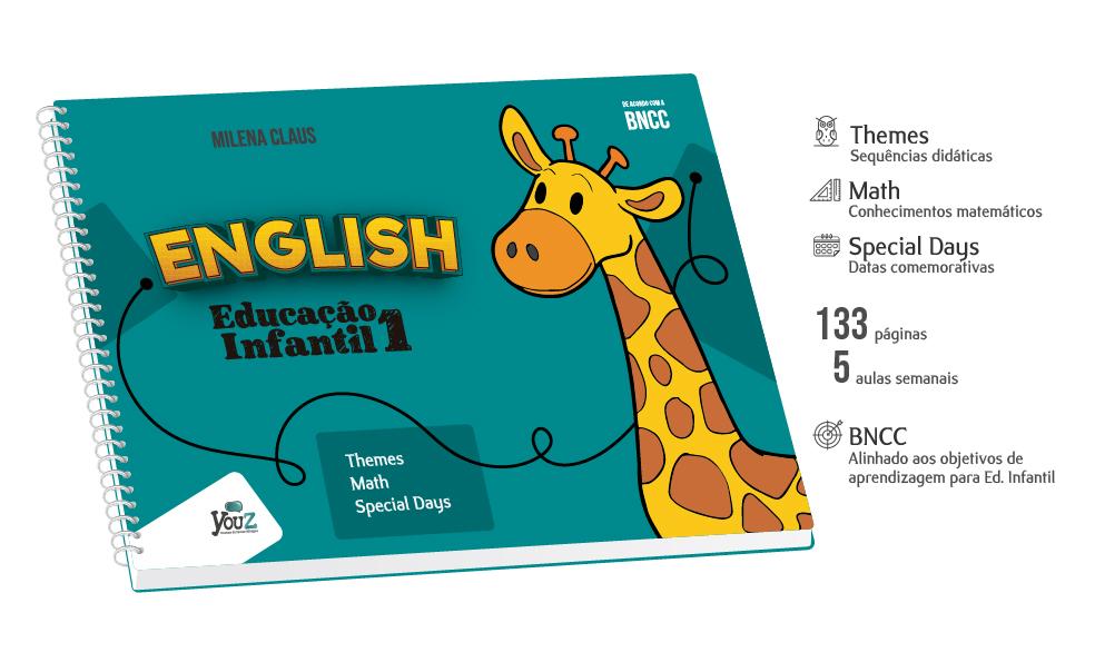 Livro de inglês para crianças de 3 anos. Educação Infantil Bilíngue.